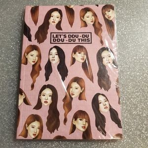 black pink kpop notebook
